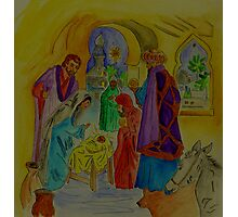 The Wise Men Visit Jesus the Christ Photographic Print