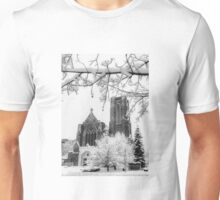 The Church of St. Mary/St. Paul in December Unisex T-Shirt