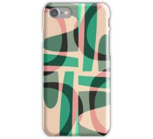 Nouveau Retro Graphic Green and Peach iPhone Case/Skin