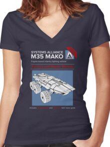 Mako Guide Women's Fitted V-Neck T-Shirt