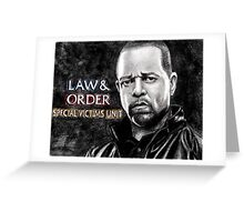Fin Tutuola from Law and Order svu Greeting Card