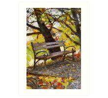bench in park Art Print
