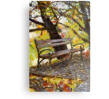 bench in park Metal Print