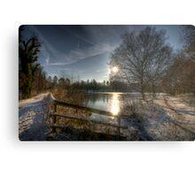 A Postcard Winter at Alice Holt Metal Print