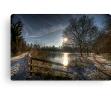 A Postcard Winter at Alice Holt Canvas Print
