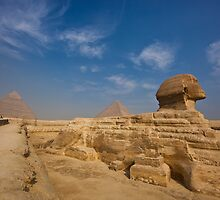 Sphinx and Pyramids by Sam Tabone