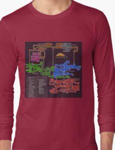 Super Metroid Map Long Sleeve T-Shirt