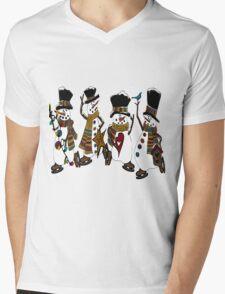 Snow Play Mens V-Neck T-Shirt