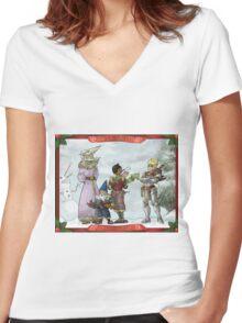 Solstice Carols! Women's Fitted V-Neck T-Shirt