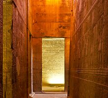 Edfu Temple walls by Sam Tabone