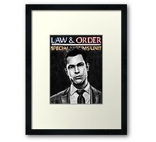 Nick Amaro from Law and Order svu Framed Print