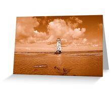 Point Of Ayr Lighthouse At Talacre Greeting Card