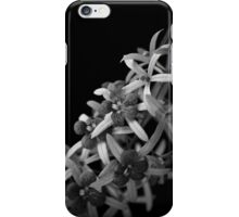 Black and white Orchids iPhone Case/Skin