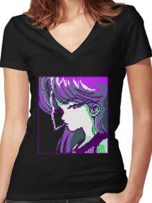 Smoke (Purple) Women's Fitted V-Neck T-Shirt