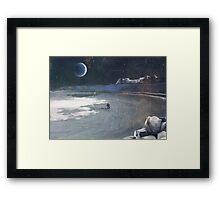 Moon Surface Framed Print