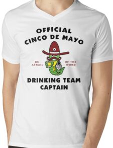 "Cinco de Mayo ""Cinco de Mayo Drinking Team Captain"" Mens V-Neck T-Shirt"