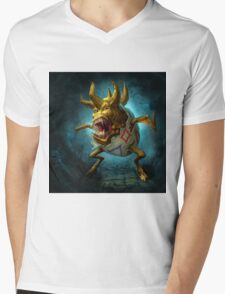 Evil Togepi Pokemon Mens V-Neck T-Shirt