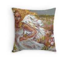 FIELD OF ANGELS Throw Pillow