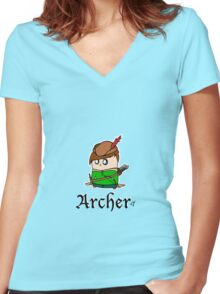 The Archer Women's Fitted V-Neck T-Shirt
