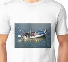 Skiff At Lyme Regis Harbour Unisex T-Shirt