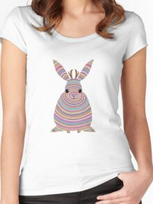 Colourful Jackalope Women's Fitted Scoop T-Shirt