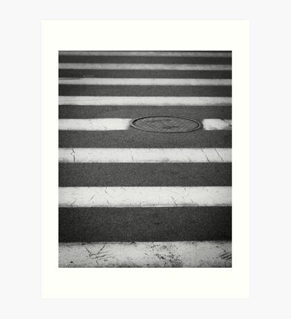 Crosswalk with Manhole Art Print