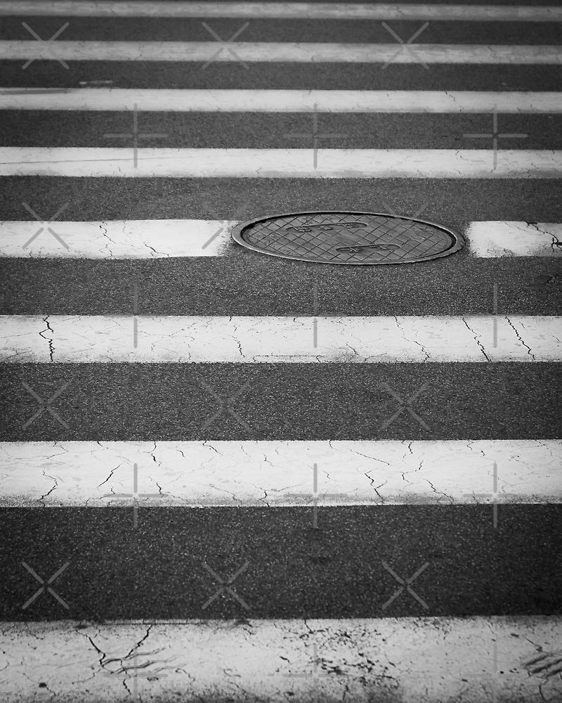 Crosswalk with Manhole by William Fehr