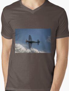 Hawker Sea Fury Pass Mens V-Neck T-Shirt