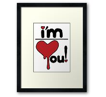 i'm over you! Framed Print