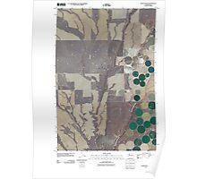 USGS Topo Map Washington State WA Lenzie Ranch 20110407 TM Poster
