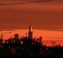 Sunrise Hits Chicago by Adam Kuehl