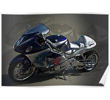 2004 Susuki Hayabusa GSX 1300 Custom Motorcycle with NOS Poster