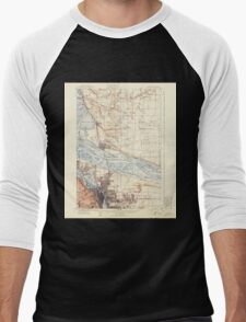 USGS Topo Map Washington State WA Portland 243244 1905 62500 Men's Baseball ¾ T-Shirt