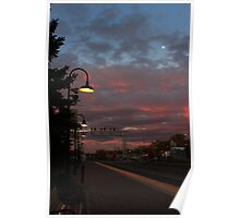 Mooning A Sunrise Poster