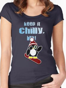 Keep it chilly, bro! Women's Fitted Scoop T-Shirt