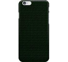 Binary (black background) iPhone Case/Skin
