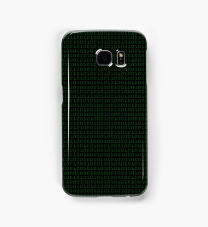 Binary (black background) Samsung Galaxy Case/Skin