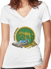 Travel in Time Women's Fitted V-Neck T-Shirt