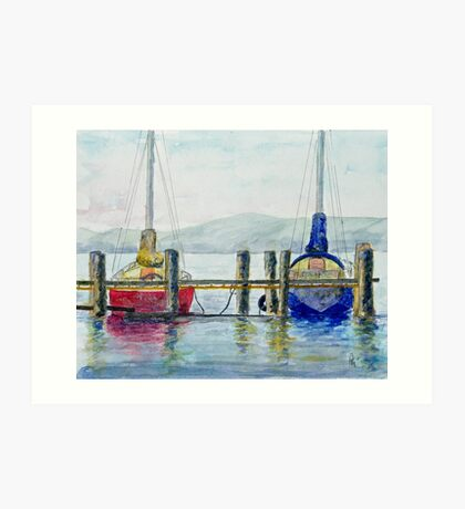 Yachts at Margate Marina - Tasmania Art Print