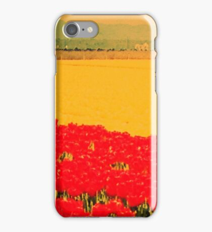 Tulip Field Blur iPhone Case/Skin