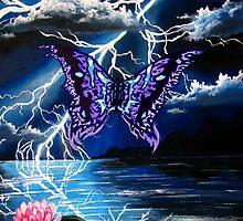night of the purple butterfly by LoreLeft27