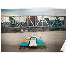 Barge and Bridge Poster