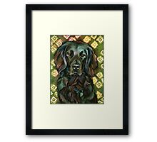 Black Lab Beauty Framed Print