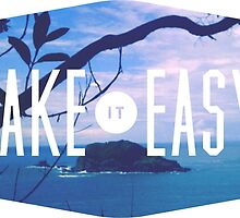 Take it easy island tiki tropical beach summer ocean trendy boho pic by Big Kidult
