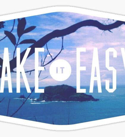 Take it easy island tiki tropical beach summer ocean trendy boho pic Sticker