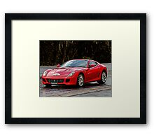 A Stallion in the Alps Framed Print