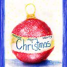 Christmas Bauble Card by Adriana Glackin