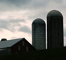 Silos in the Country by ctheworld