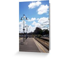 Claremont Station 02 11 12 Greeting Card