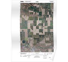 USGS Topo Map Washington State WA Wilbur 20110401 TM Poster